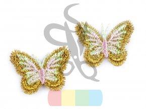 nášivka motýlek - zlatá