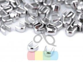 koncovka na zip 3 mm horní - balení 10 ks - stříbrná