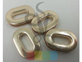 průchodka šroubovací oválná 16 mm  - zlatá