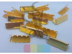 zakončení kovové 25 mm, barva zlatá