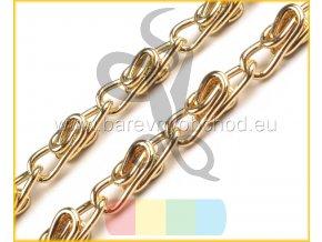 řetízek na kabelky se zapínáním - 90 cm - zlatý