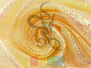 třpytivá organza žlutá