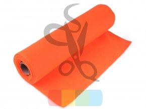 filc 1mm, šíře 40 cm - oranžová reflexní