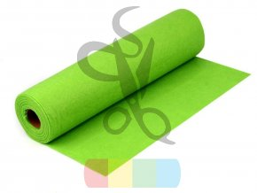 filc 1mm, šíře 40 cm - zelená reflexní