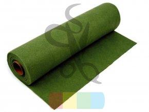 filc 1mm, šíře 40 cm - zelená tmavší