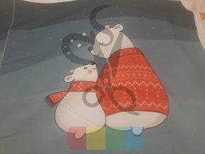 bavlna - panel - 48 x 48 cm - medvídci