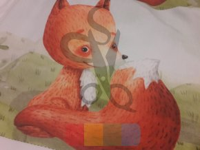 bavlna - panel - 32 x 42 cm - liška