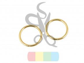 kroužek 20 mm - zlatá