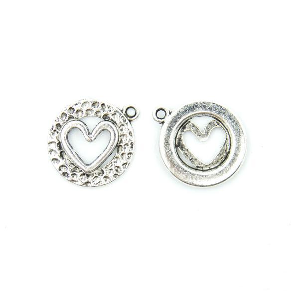 přívěšek - srdce v kroužku - stříbrné 6b393f54df