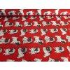 bavlněná látka - mopsíci v červené