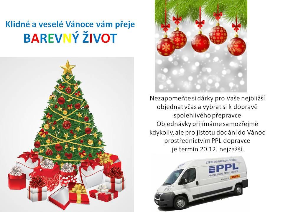 Vyberte spolehlivého dopravce a objednejte dárky nejpozději 20.12.2016
