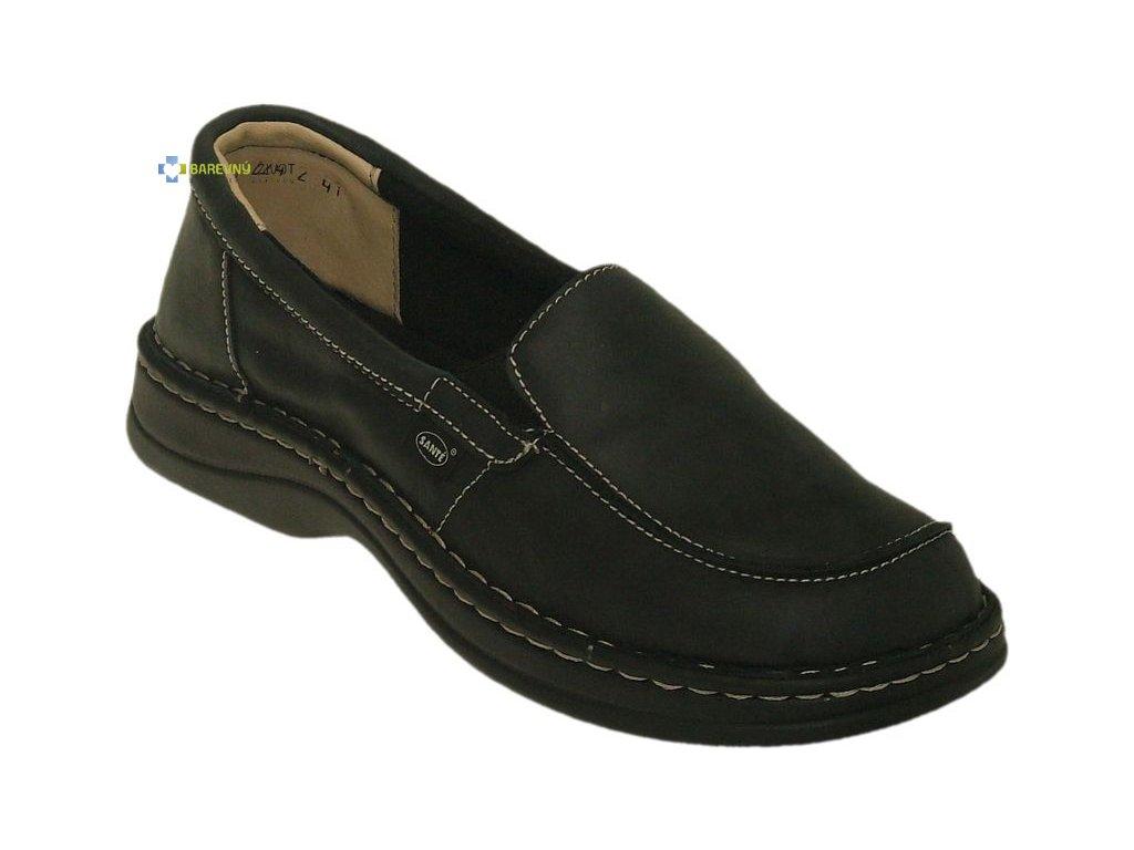 41fd9b727a44 Dámská zdravotní ortopedická obuv černá SANTE - BAREVNÝ ŽIVOT
