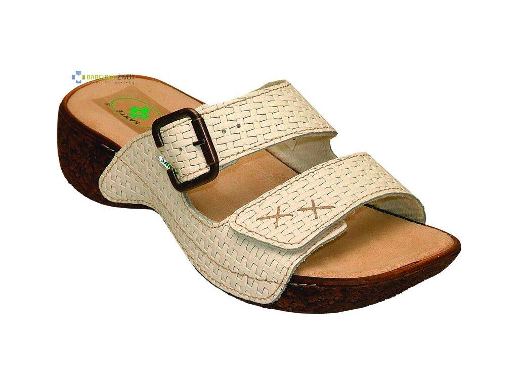 Dámské zdravotní pantofle SANTE bílé