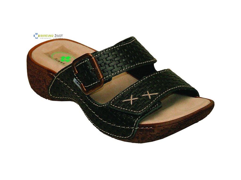 904897eced9 Dámské zdravotní pantofle SANTE černé - BAREVNÝ ŽIVOT