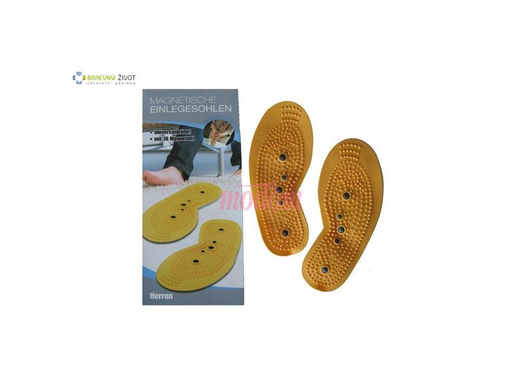 Akupresurní vložky do boty s magnetem