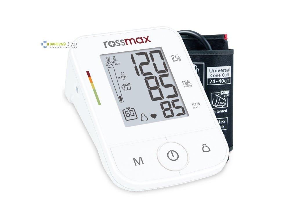 Tlakoměr Rossmax X3 s indikátorem hypertenze