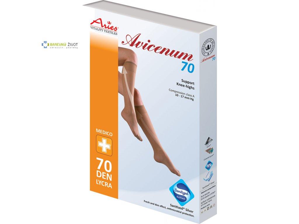 Avicenum 70 – kompresní podpůrné podkolenky