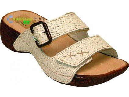 Dámské zdravotní pantofle SANTÉ bílé