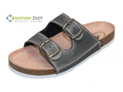 Pánské zdravotní pantofle SANTÉ antracit