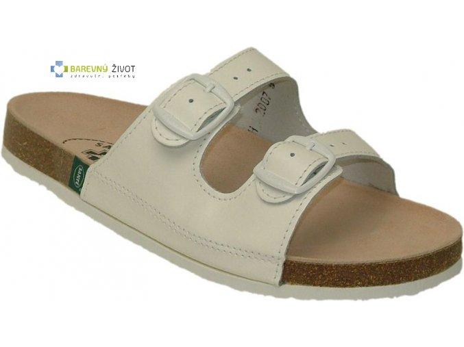 Pantofle korkové bílé SANTE