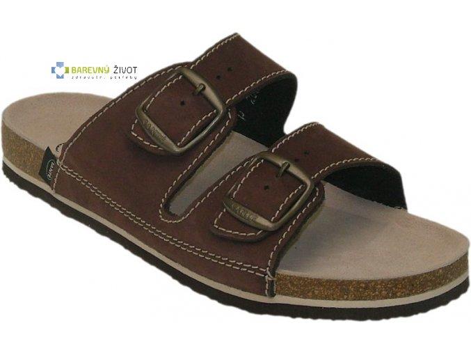 Pánské zdravotní pantofle tmavěhnědé SANTE