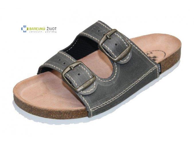 Pánské zdravotní pantofle hnědé SANTÉ