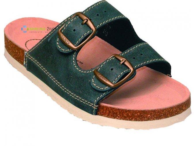 Dámské zdravotní pantofle SANTE modré - N/21/86/BP