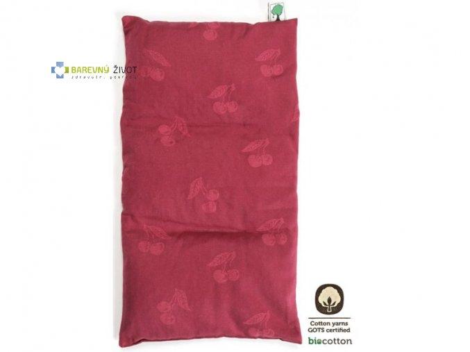 Hřejivý a chladící  polštář (třeš.pecky)  Jumbo 26x55cm