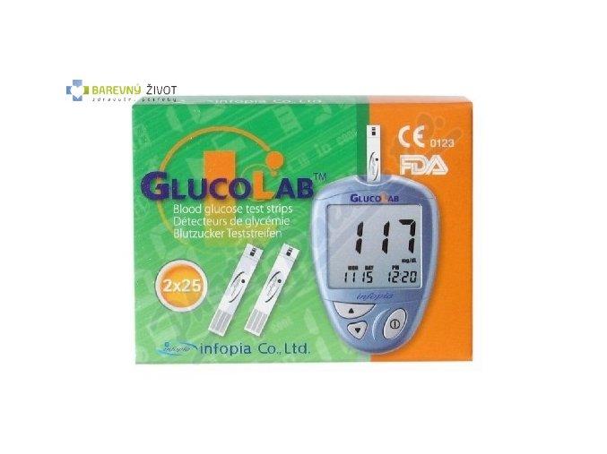 Testovací proužky ke glukometru Glukolab