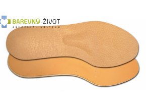 Vložky do bot zdravotní kožené se srdíčkem
