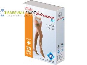 Avicenum 70 – kompresní stehenní punčochy se samodržící krajkou