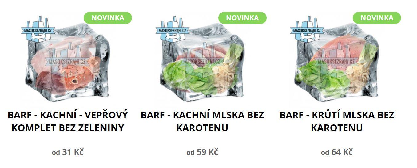 novinky z edice EBONY & IVORY - BARF bez zeleniny a betakarotenu