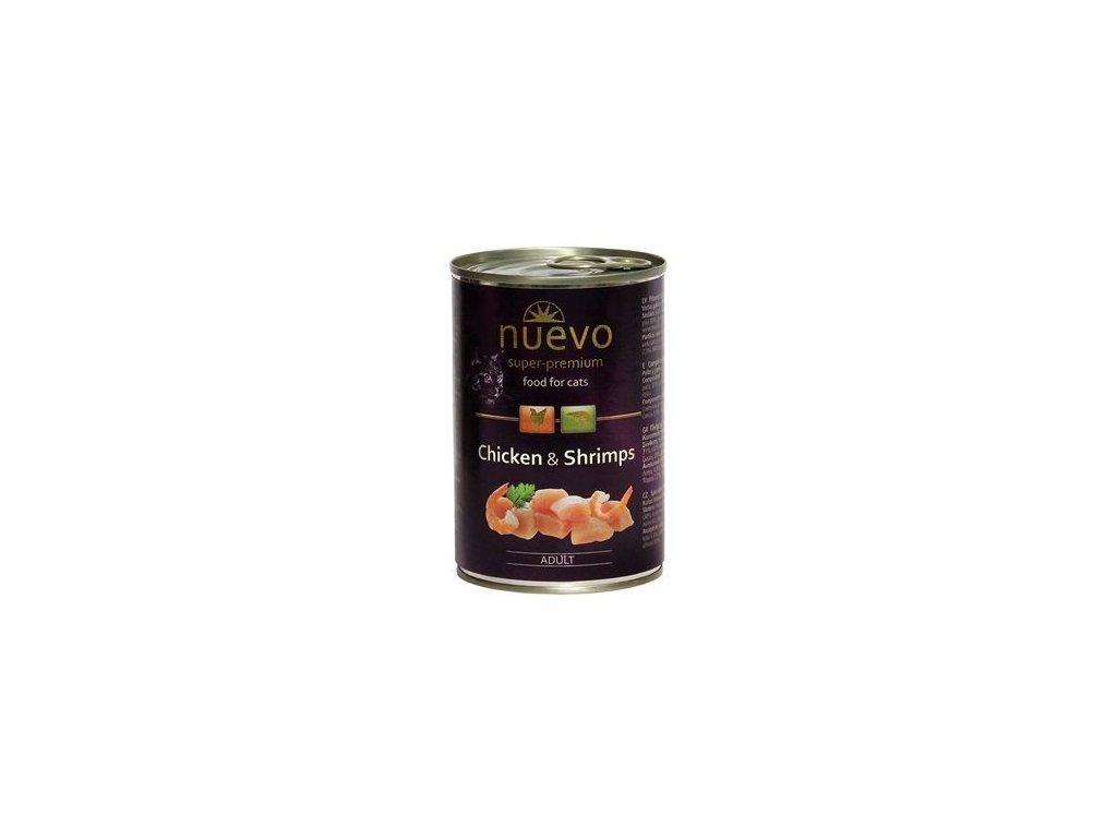 konzerva pro kocky nuevo cat kure a krevety 400 g