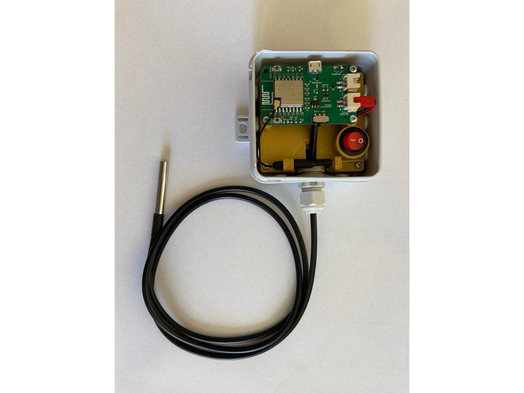 Teploměr bezdrátový do termoboxu, lednice, udírny, s Wi-Fi, akumulátorem 1500mAh