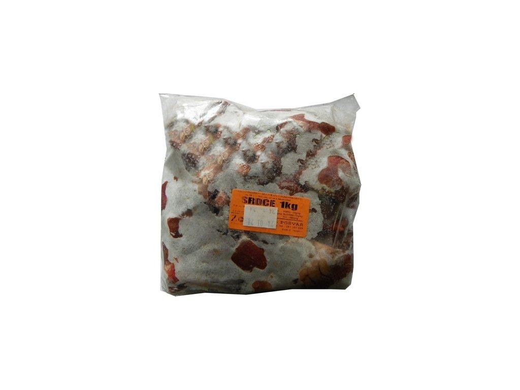 Srdce hovězí a vepřové 1kg (ZOO Pošvář)