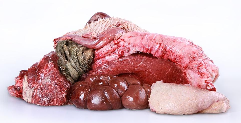 Hovězí maso s droby 1kg