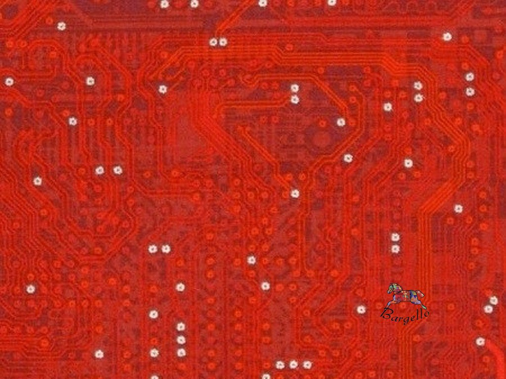 Silver Circuit Traces Red
