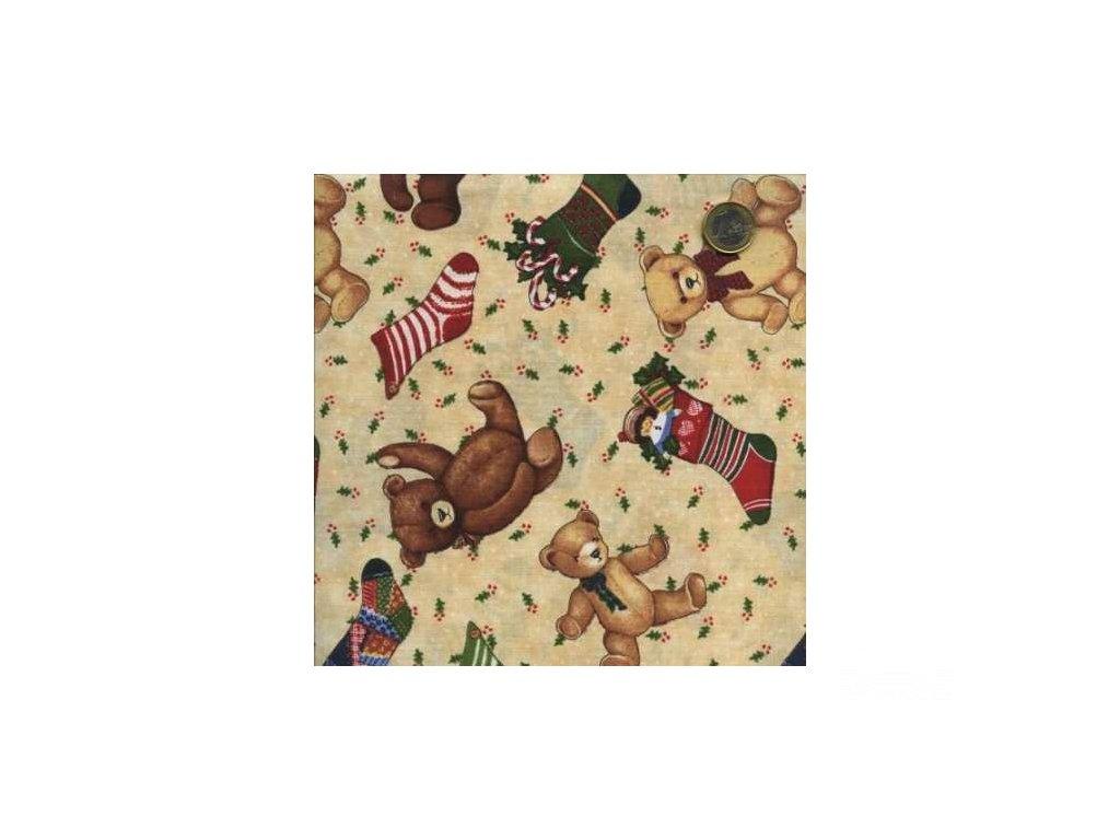 Čtverec Holiday Home Teddy Stocking Toss Tan
