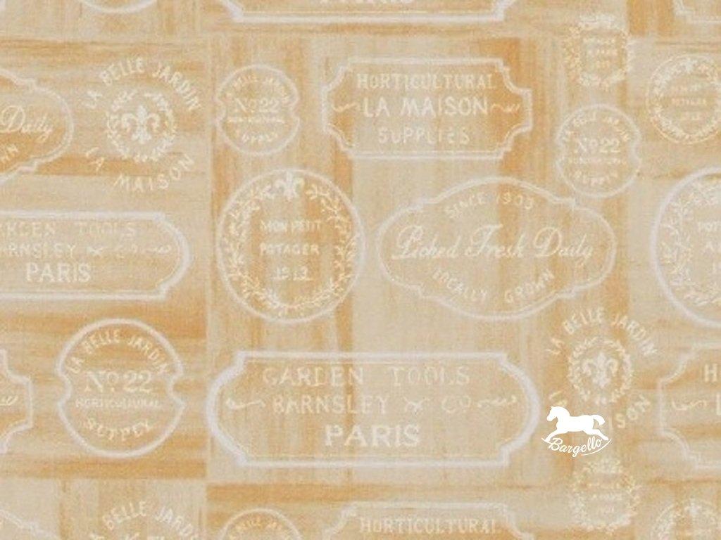 Čtverec Le Cafe Label tan