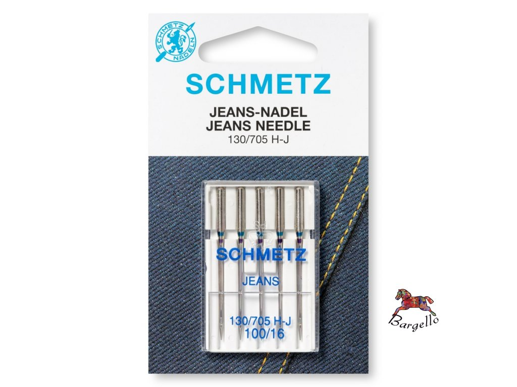 Jehly strojové na džínovinu Schmetz