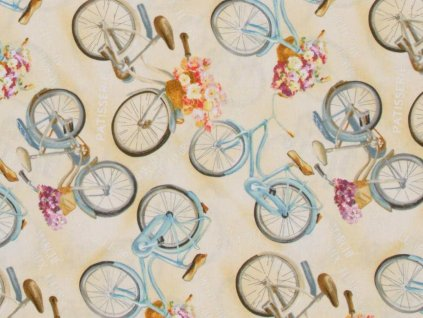 Čtverec Le Cafe Vintage bicycle tan