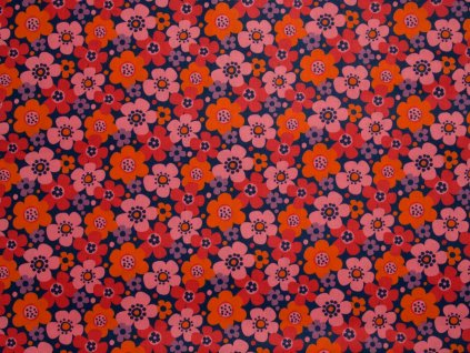 Call me! Flowers Orange/Navy