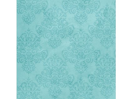 Coastal Dreams Aqua Tonal Damask
