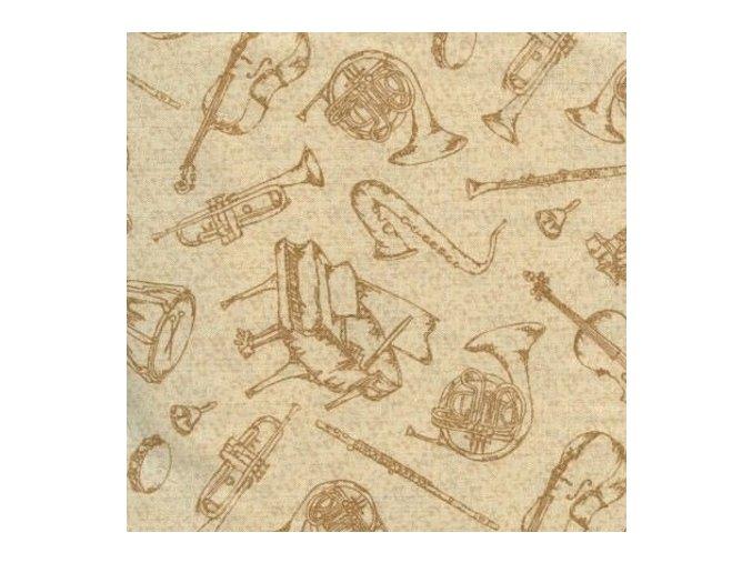 Joyful Noise Instument Toile Ivory
