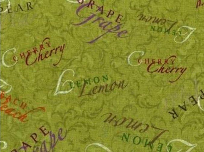 Čtverec Picked Fresh Words Texture Med. Green