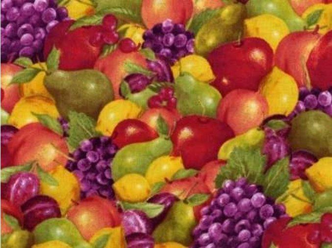 Čtverec Picked Fresh Packed Fruit Multi