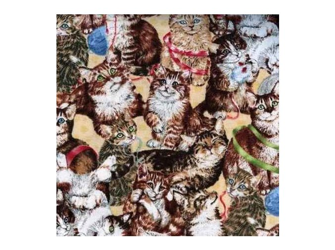 Čtverec Quilting Purr-Fection Stacked Cats