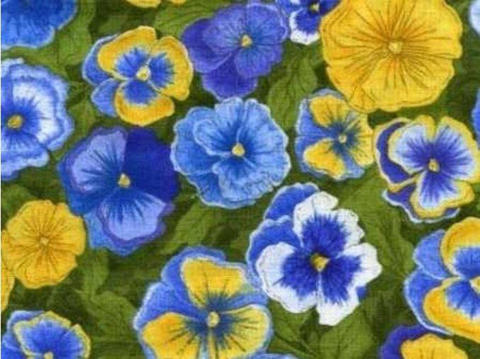 Čtverec Patchwork Garden Pansies
