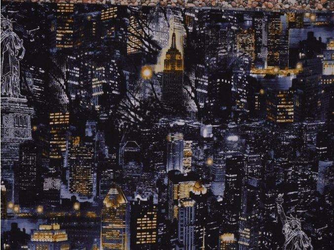 Čtverec City Scapes NYC at Night