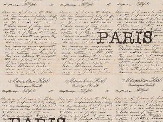 Čtverec Destination Paris